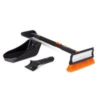 "BirdRock Home Snow Moover 39"" Extendable Snow Brush with Squeegee, Ice Scraper & Emergency Snow Shovel 