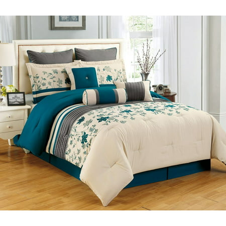 Sameera California King Size 7 Piece Embroidered Comforter
