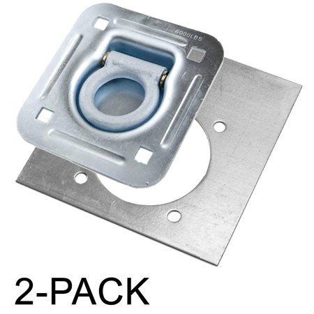 D-Ring Recessed 6,000 lb. Tiedown with Backing Plate Tie Downs - 2 Pack Ancra Original Tie Downs