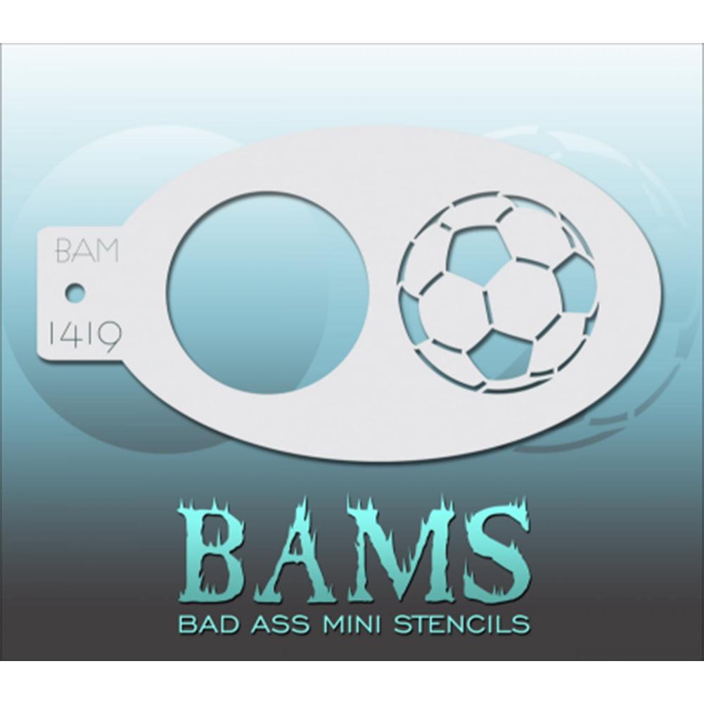 Bad Ass Sports Balls Mini Stencil BAM1419