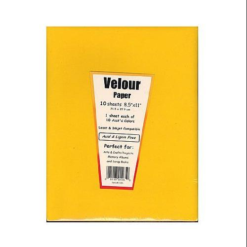 Hygloss - Velour Paper - Assorted Colors  - 10/Pkg.