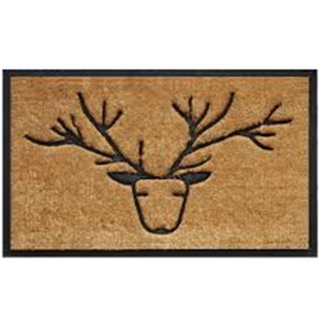 Geo Crafts G380 30 Antler Blu Sml 8 X 30 In  Sk Antler Creel Doormat  44  Blue   Small