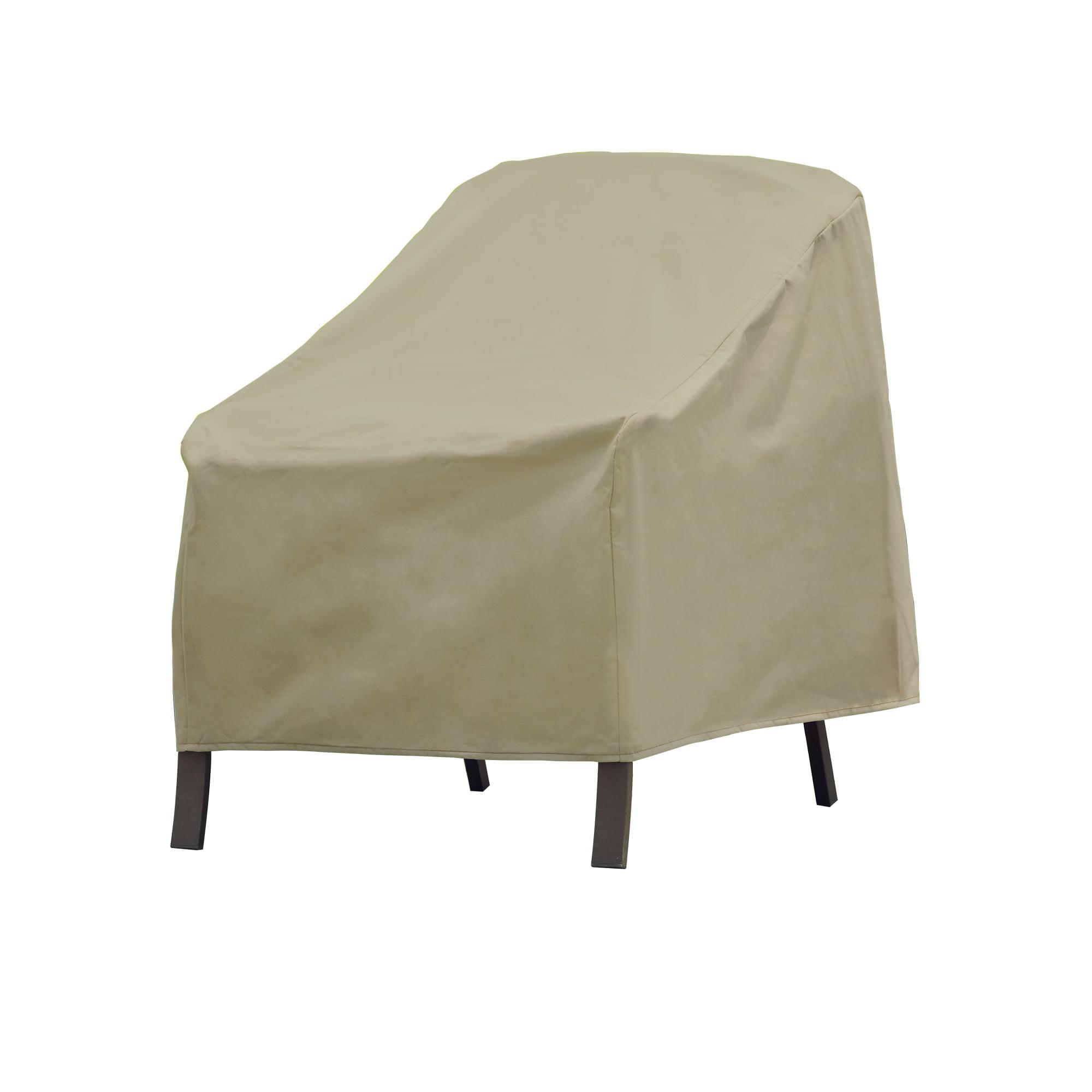 Modern Leisure Basics Outdoor Patio Chair Cover 33 W X 34 D X 31 H Khaki Walmart Com Walmart Com
