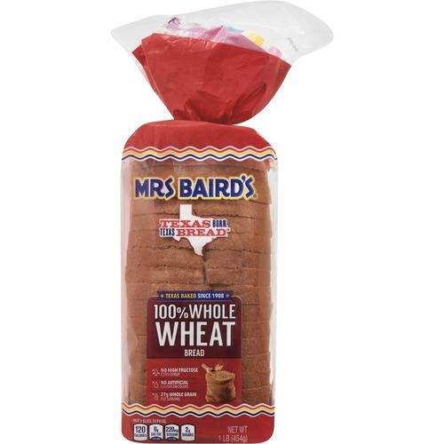 Mrs. Baird's 100% Whole Wheat Bread, 16 oz