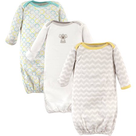 Luvable Friends Baby Unisex Gowns,