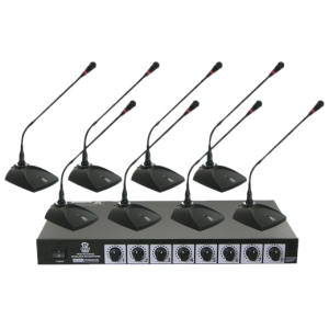 Pyle PDWM8300 Professional Conference Desktop VHF Wireless Microphone System by Pyle