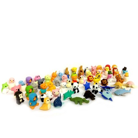 Erasers Animal Overstock Pack of 10 (Animals will be randomly selected)Eco Friendly Non Toxic Erasers. This listing is created by Tokyo Japanese Outlet..., By Iwako (Iwako Food Erasers)