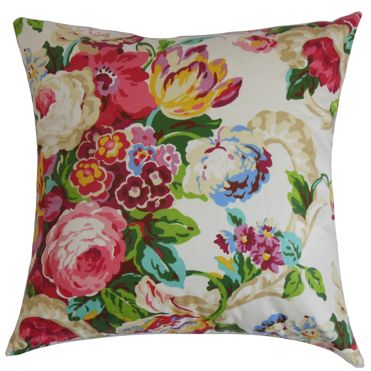 The Pillow Collection Nyasia Floral Euro Sham Spring Walmart Com Walmart Com