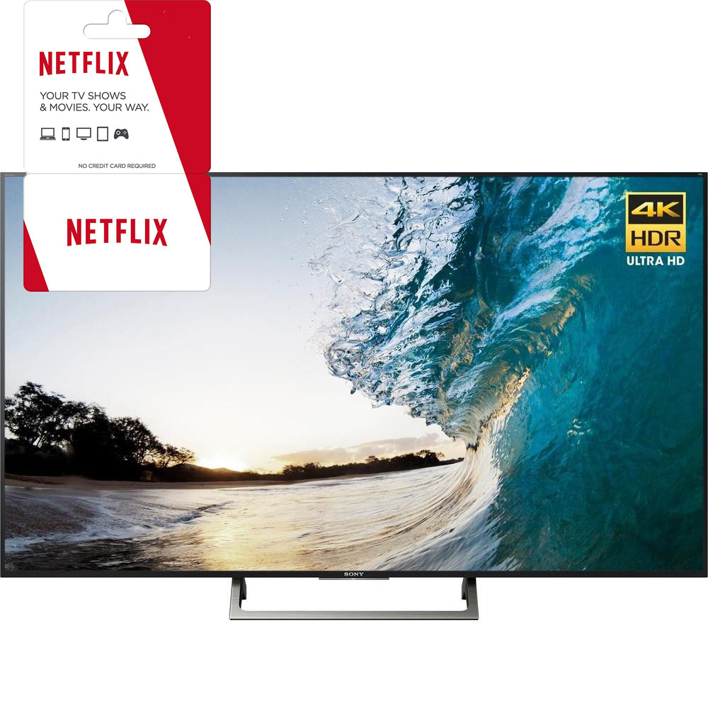 Sony XBR-65X850E 65-inch 4K HDR Ultra HD Smart LED TV (2017 Model) w/ 1 Month Netflix Subscription