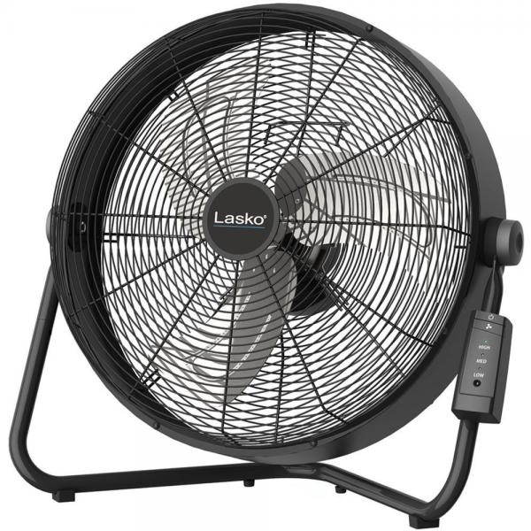"Lasko H20685 High Velocity Floor Fan with QuickMount Wall-Mount and Remote Control, 20"", Black"