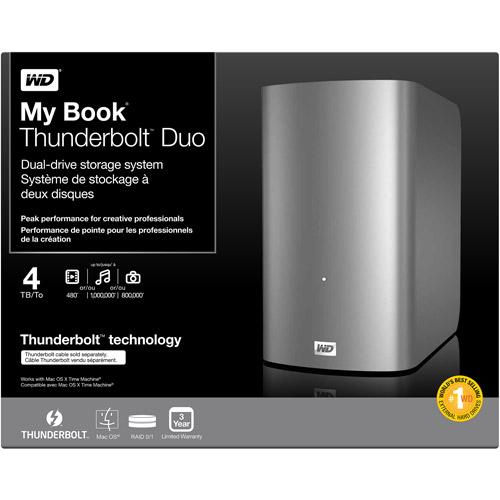 Western Digital Retail WDBUPB0040JSL-NESN My Book Thunderbolt Duo 4TB by Western Digital