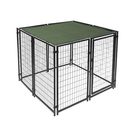 ALEKO Heavy Duty Dog Kennel with Dark Green Shade - 5 x 5 x 4 Feet
