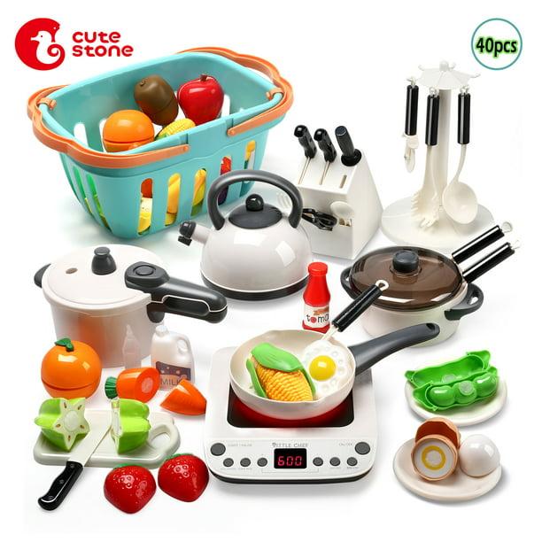 40pcs Cookware Kitchen Cooking Set Pots Pans Toy For Kids Girls Play House Toys Simulation Kitchen Utensils Walmart Com Walmart Com