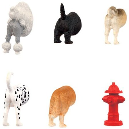 Kikkerland Dog Butts Animal Magnets, Set of 6