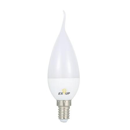 AC110-130V 7W 11 LED Candle Shape Light Bulb E14 Base Socket Holder IP44 Water Resistance Portable for Living Room Dining Hall Corrior Attic Balcony - E14 Candle
