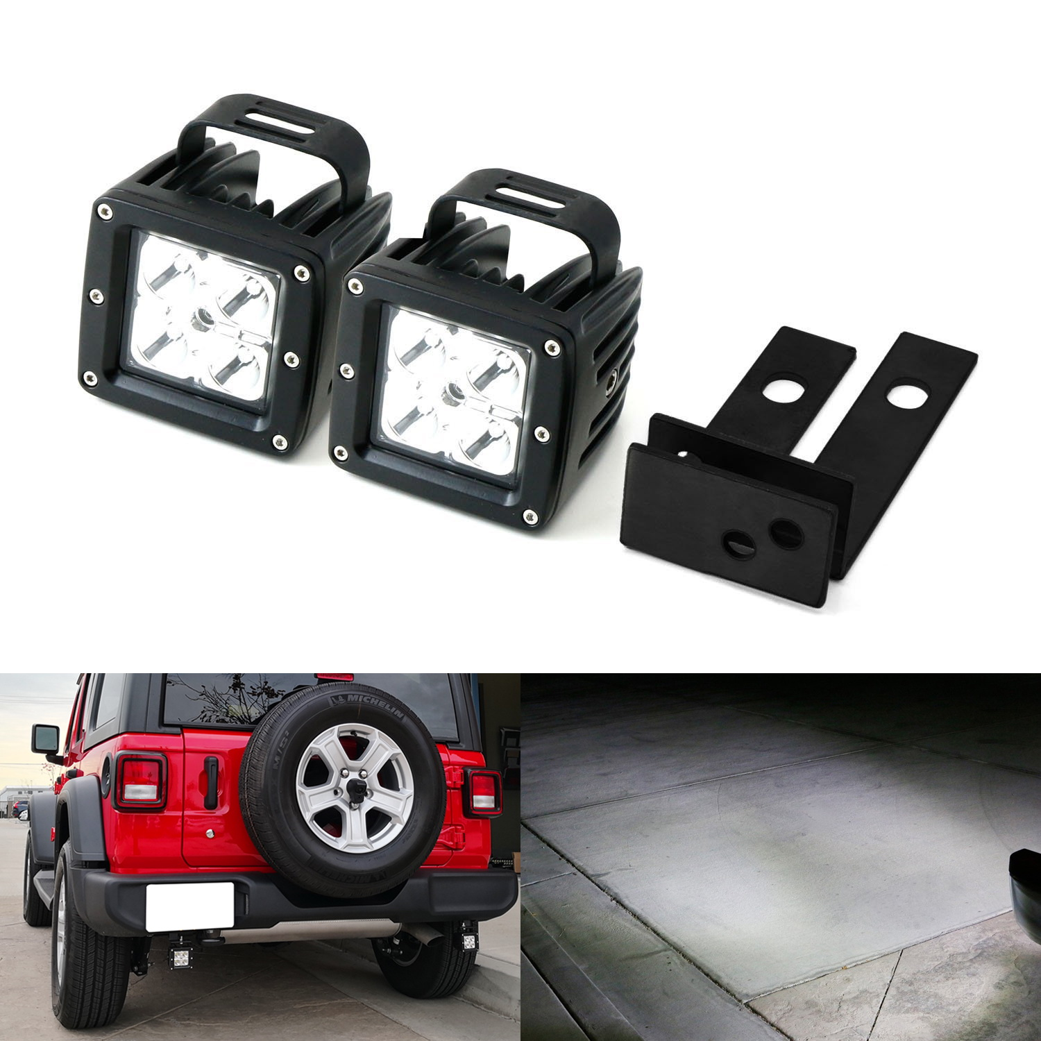 iJDMTOY Complete 40W High Power CREE LED Pods w/ Rear Bumper Frame on 1998 dodge neon wiring harness, 1998 nissan maxima wiring harness, 2000 jeep grand cherokee wiring harness, 1999 jeep grand cherokee wiring harness, 98 jeep wrangler wiring harness, 1986 jeep cj7 wiring harness, 1998 lincoln town car wiring harness, 1998 chevy suburban wiring harness, 2002 jeep wrangler wiring harness, 1997 jeep grand cherokee wiring harness, 2006 jeep wrangler wiring harness, 2007 jeep wrangler wiring harness, 1994 jeep wrangler wiring harness, 2005 jeep wrangler wiring harness, 1988 jeep wrangler wiring harness, 2004 jeep grand cherokee wiring harness, 2011 jeep grand cherokee wiring harness, 1998 jeep grand cherokee wiring harness, 1998 dodge van wiring harness, 1998 ford expedition wiring harness,