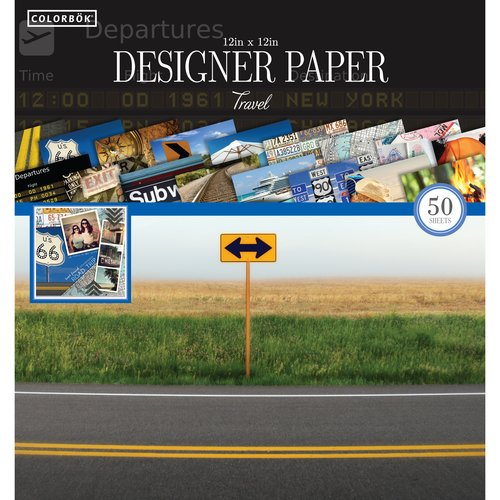 "Colorbok 12"" Designer Paper Pad, Destinations"