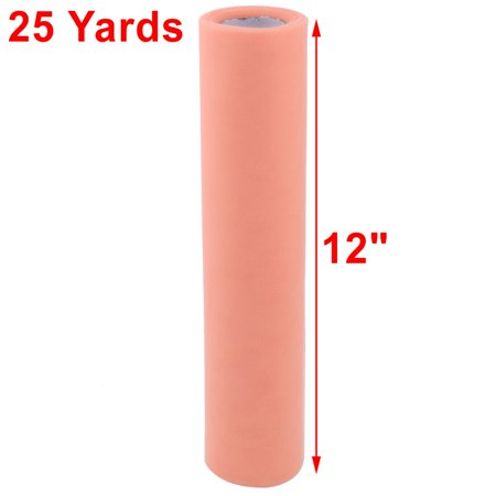"12"" x 25 yd Spool Shiny Tulle Roll for Tutu Craft,Coral Pink - image 3 de 4"