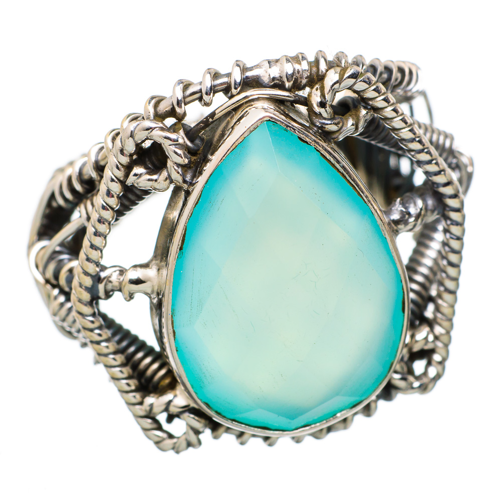 Ana Silver Co Large Aqua Chalcedony 925 Sterling Silver Ring Size 7.5 RING825322 by Ana Silver Co.