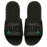 Boston Celtics ISlide Youth Tonal Pop Slide Sandals - Black