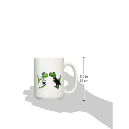 3drose Funny Green Trex Dinosaurs Bride And Groom Wedding Art Ceramic Mug 15 Ounce Walmart Com Walmart Com