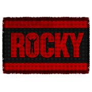 Rocky Logo Woven Throw White 48X80