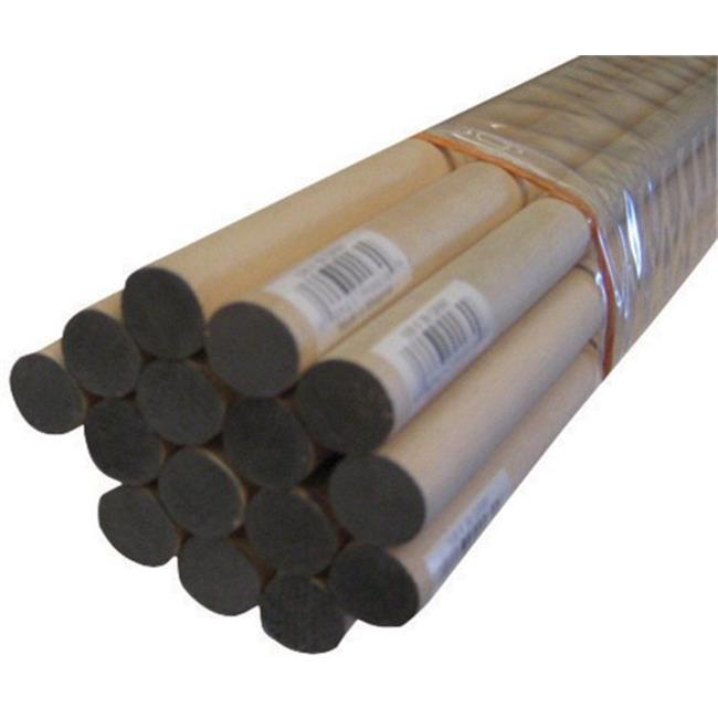 Alexandria Moulding 02558-R0048C1 0.63 x 48 in. Thunderbird Forest Dowels Hardwood   Grey - pack of 15 - image 1 of 1