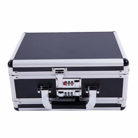 30*15*23cm Aluminum New Framed Locking Gun Pistol HandGun Lock Box Hard Storage Carry Case Silver (Handgun Conceal Carry Case)