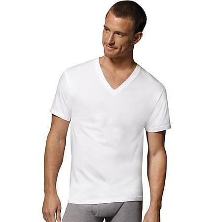 36660bdb Hanes - Men's ComfortBlend White V-Necks Shirts, 3 Pack - Walmart.com