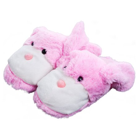 Kids Cuddlee Slippers, Bunny, Ages 6-12