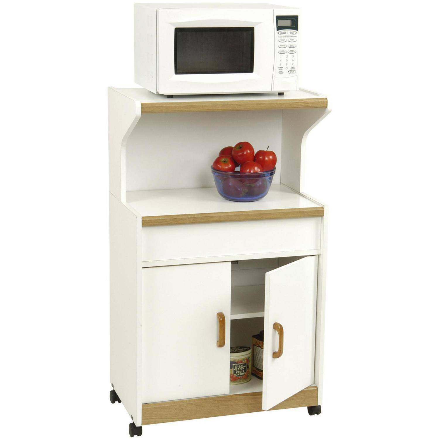 Kitchen Cabinet For Microwave Microwave Cabinet With Shelves White Walmartcom