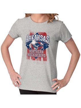 68225b2a814c3 Product Image Brisco Brands Arkie Bird Northern Mockingbird Adult Short  Sleeve T-Shirt