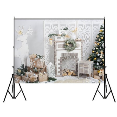 GreenDecor Polyster 7x5ft Photography Backgrounds, Merry Christmas Backdrops, Photo Studio Props Best for Christmas Decoration or Children, Newborn,