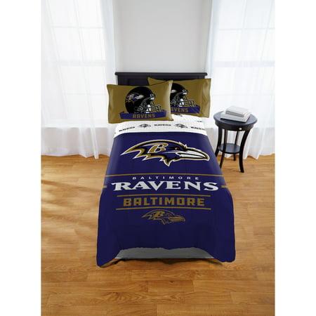 Baltimore Ravens Bed Set (NFL Baltimore Ravens Monument Twin Full Comforter Set, 1 Each)