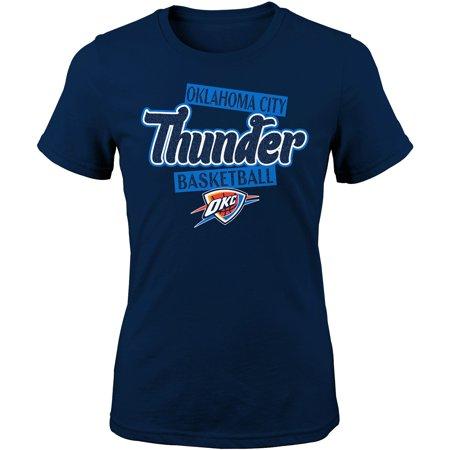 Girls Youth Navy Oklahoma City Thunder Team T-Shirt - Halloween Fun In Oklahoma City