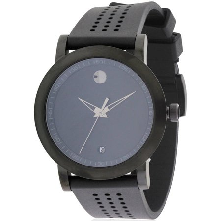 Movado Museum Sport Black Rubber Men's Watch, 0607038
