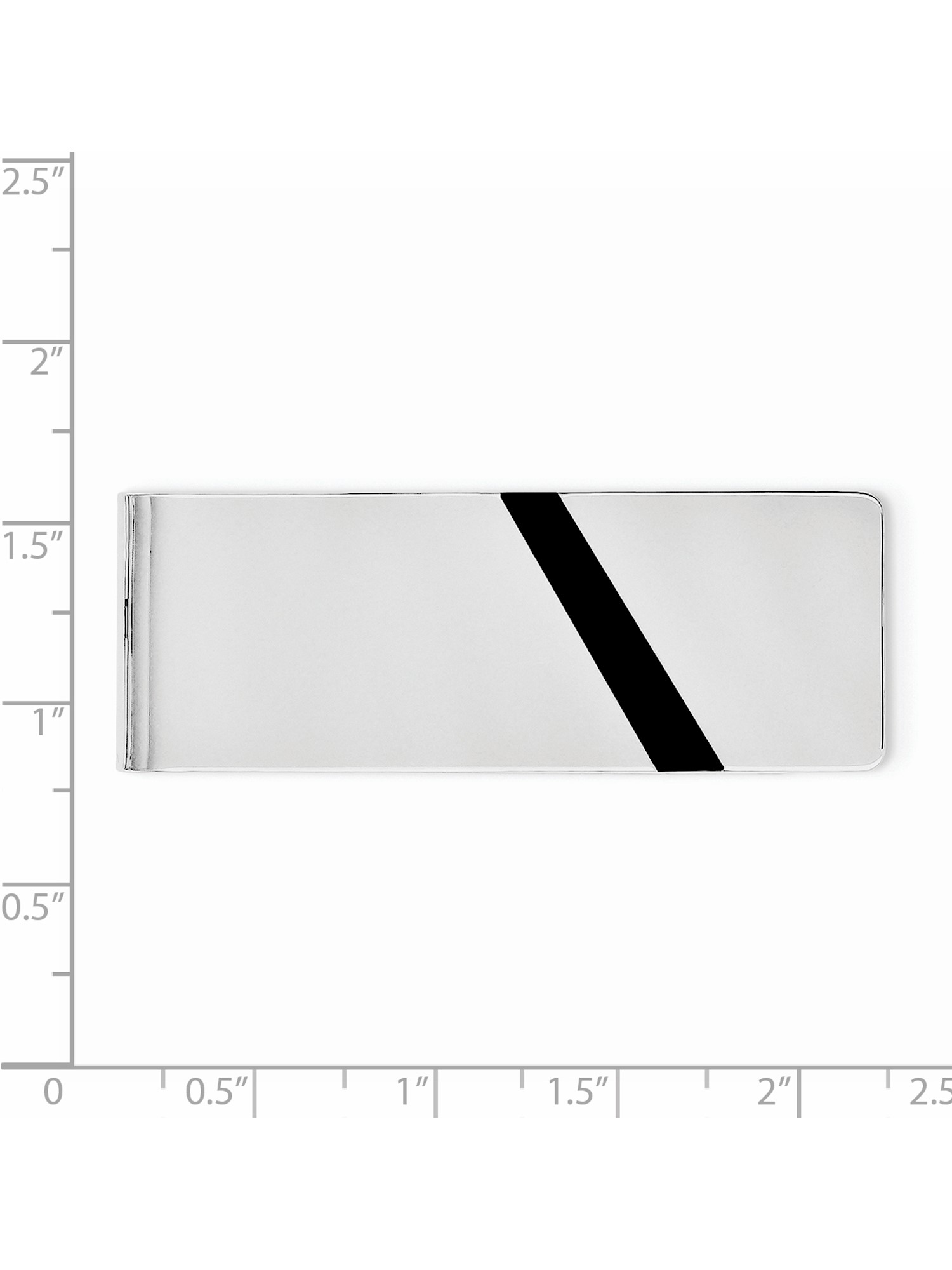 Sterling Silver Black Enameled Money Clip