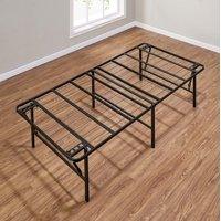 "Mainstays 18"" High Profile Foldable Steel Bed Frame, Multiple Sizes, Multiple Colors"