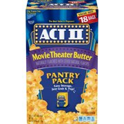 Act II Movie Theater Butter Microwave Popcorn, 2.75 Oz, 18 Ct