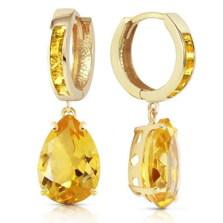 ALARRI 13.2 Carat 14K Solid Gold Dramatique Citrine Earrings.
