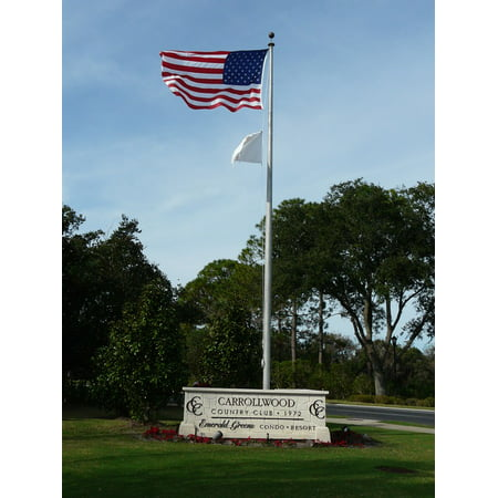 LAMINATED POSTER Carrollwood Golf Club American Use Flag Poster Print 24 x 36