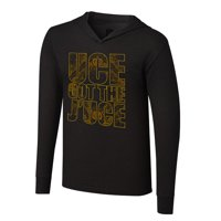 """Official WWE Authentic The Usos """"Uce Got The J'Uce"""" Tri-Blend Long Sleeve Hoodie Black Small"""