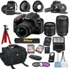 Nikon D3400 24.2 MP DSLR Camera + 18-55mm VR Lens Kit + 70-300mm Zoom Lens +  Accessory Bundle + 2X 32GB Memory + Camera Gadget Bag + Wide Angle Lens + 2x Telephoto Lens + Flash + Remote + Tripod + Fi