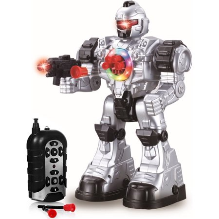 Remote Control Robot Toy - Robots For Kids Superb Fun Toy - Toy Robot Shoots Missiles Walks Talks & Dances With Flashing Lights 10 Functions - Best RC Robot Gift For Boys And Girls -Original By