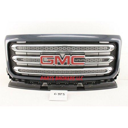 New OEM GMC Canyon Painted All Terrain Type Grille. Mesh center with chrome accents. Fits 2016 2017 2018 2019 2020. Dark Grey Metallic 84260054 23292017 23292018 23292019 23292016 Oem Chrome Grille