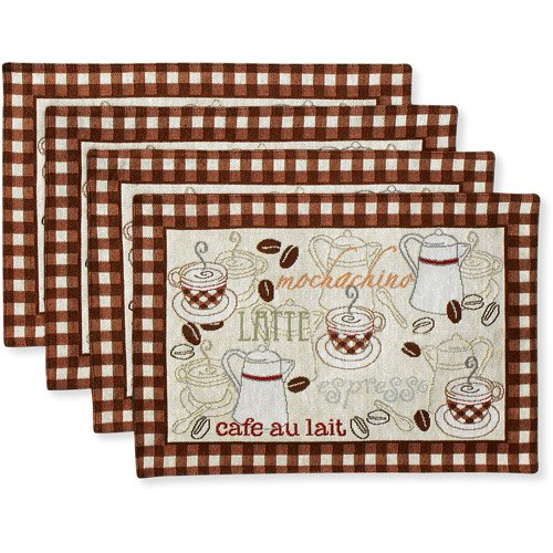 Better Homes And Gardens Placemats, Set Of 4, Coffee