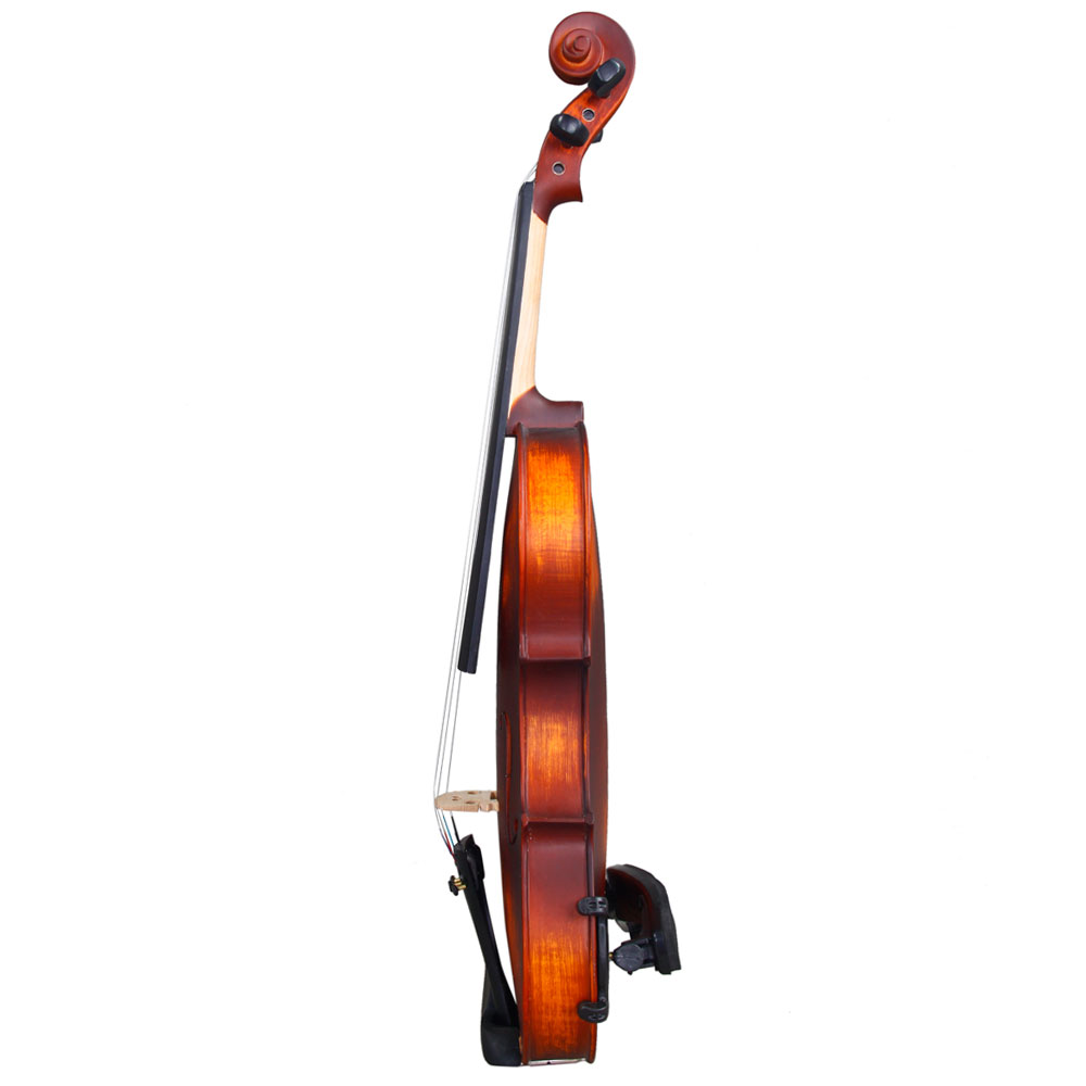 Zimtown Glarry 3/4 Solid Wood Violin with Box, Bow, Rosin, Shoulder Rests, Electronic Tuner and Extra Strings, Dark Goldenrod - image 4 de 6