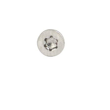 M2.5x12mm 304 Stainless Steel Flat Head Torx Drive Type Screw Silver Tone 50pcs - image 2 of 3