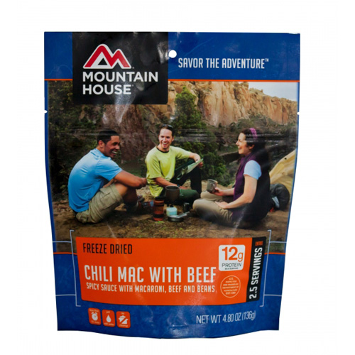 Mountain House Savor the Adventure Freeze Dried Chili Mac with Beef, 4.80 oz by Mountain House