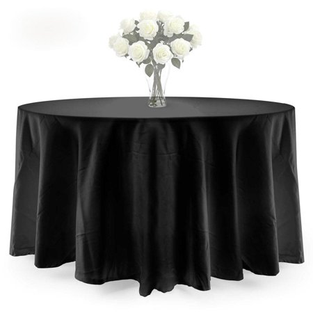 Ktaxon 90 Inch Round Tablecloth Polyester Wedding Table Cover